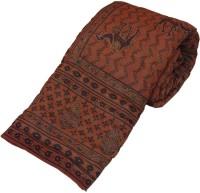 Little India Gold Print Pure Cotton Double Bed Razai Quilt Modern Ethnic Quilt Double