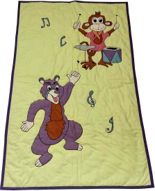 Hugs'n'Rugs Embroidered Single Quilts & Comforters Multicolor