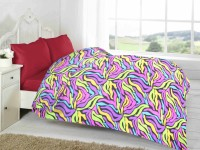 Fabutex Abstract Double Blanket Multi-colored Fleece Blanket, 1 Fleece Blanket
