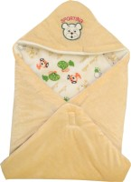 My NewBorn Cartoon Crib Hooded Baby Blanket Beige (1 Blanket)