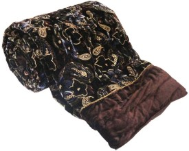 Home India Paisley Double Quilts & Comforters Brown