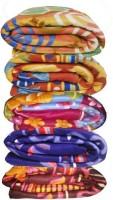 Peponi Floral Double Blanket Multicolor Fleece Blanket, Peponi Set Of 5 Printed Fleece Blanket