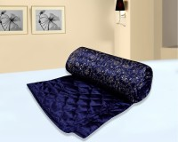 Bagru Crafts Self Design Double Quilt Blue