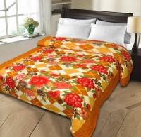 Christy's Collection Paisley Double Fleece Blanket Orange