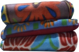 Spangle Abstract Single Blanket Multicolor