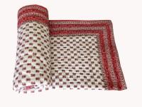 Unnati Enterprises Printed Single Quilts & Comforters Red Cream 1 Quilt
