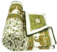 Shopping Shop Paisley Single Quilts & Comforters Green 1 Reversible Single Bed Quilt
