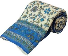 krishna online service Floral Double Quilts & Comforters multicolor