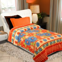 Home Originals Floral Single Blanket Multicolor, Single Bed AC Fleece Blanket