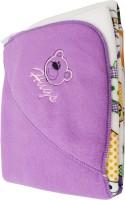 My NewBorn Cartoon Crib Hooded Baby Blanket Purple (Fleece Blanket, ONE BLANKET)