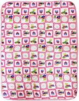 Wonderkids Teddy Print Checkered Single Quilt (Pink)