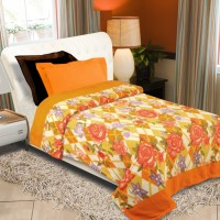 Home Originals Floral Single Blanket Multicolor Fleece Blanket, Single Bed AC Fleece Blanket