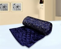 El Sandalo Self Design Double Quilt Blue
