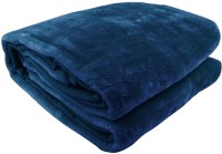 Fab Ferns Plain Double Blanket Blue Mink Blanket, Blanket