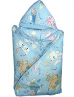 Tiny Care Wrap With Hood Regularblue Blanket (Single)