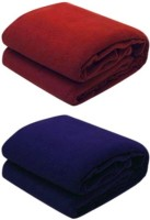 RS Quality Plain Single Quilts & Comforters Red