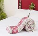 Aapno Rajasthan Hand Block Print Premium Reversible Jaipuri Cotton Double Flora Quilt - Double