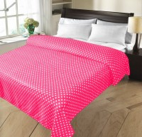 Christy's Collection Geometric Double Fleece Blanket Pink