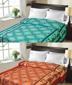 Sanvitraders Floral Double Blanket Multicolor