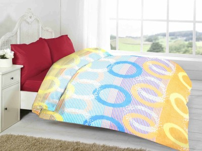 Fabutex Geometric Double Blanket Multi-colored Fleece Blanket, 1 Fleece Blanket
