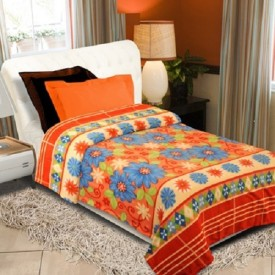 Surya Floral Double Blanket Multi