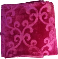Fab Ferns Plain Double Blanket Pink, 1 Blanket