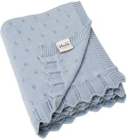 Pluchi Geometric Single Blanket Sea Blue (1 Blanket)