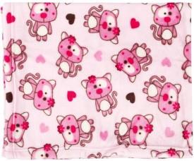 Mom & Me Printed Single Blanket Pink