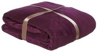 SWHF Baby Supper Soft Solid Single Blanket (Polyester Fleece, Purple)