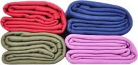 Kema Plain Single Blanket Multicolor Fleece Blanket, 4 Polar Fleece Blanket - BLAEF26Z4CUF3JNB