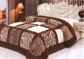 Wrap Animal Single Quilts & Comforters Brown, White