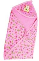 Brandonn Baby Bath Towel Cum Wrap Hooded Graphic Single Blanket (Pink)