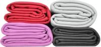 Kema Plain Single Blanket Multicolor Fleece Blanket, 4 Polar Fleece Blanket
