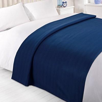 K Decor Plain Double Blanket Blue Fleece Blanket, 3 Double Bed Fleece Ac Blanket