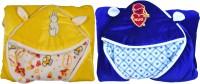 New Born Baby Blanket Checkered Crib Blanket Yellow
