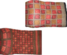 Rangasthali Checkered, Geometric Double Quilts & Comforters Multicolor