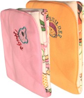 My NewBorn Cartoon Crib Hooded Baby Blanket Pink, Beige (Fleece Blanket, TWO BLANKETS)