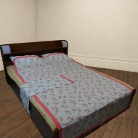 The Fancy Mart Floral Single Top Sheet Multicolor Set Of 2 Pcs 100% Cotton Top Sheet - BLAE9CME6EDD5MGW