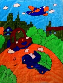 Tima Cartoon Crib Crib Baby Blanket Multicolor