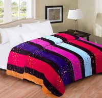 Home Originals Striped Double Blanket Multi Color Fleece Blanket, 1 Blanket