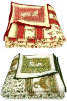Krg Enterprises Floral Double Quilts & Comforters Red & Green Red & Green Floral Cotton Quilt