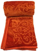 Fab Ferns Plain Single Blanket Orange, Blanket
