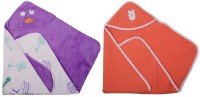 Utc Garments Cartoon, Plain Single Hooded Baby Blanket Light Purple, Light Orange, White, Red (Fleece Blanket, 2Blanket)