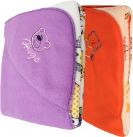 My NewBorn Cartoon Crib Hooded Baby Blanket Red, Purple (Fleece Blanket, TWO BLANKETS)