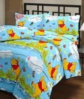 Ayushi Craft & Fashions Vinni Poo Printed Single Blanket (Fallalin, Multicolor)