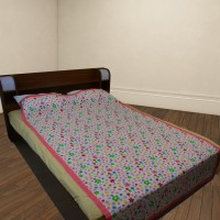 The Fancy Mart Floral Single Blanket Multicolor Set Of 2 Pcs 100% Cotton Top Sheet