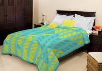 Bombay Dyeing Striped Single Blanket Green