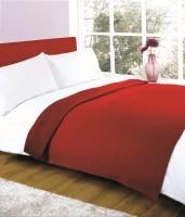 Elegance Plain Double Fleece Blanket Red, 1 Blanket