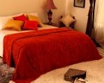 Zyne Plain Double Quilts & Comforters Orange