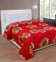 Bed & Bath Floral, Abstract Double Mink Blanket Red, Brown, Blanket